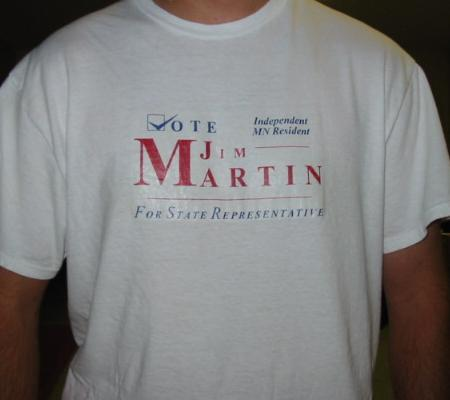 Vote Jim Martin T-Shirt Click To Enlarge